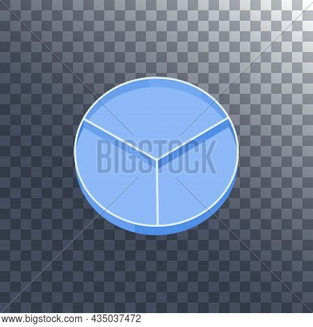 Petri Dish With Dividers On Transparent Background