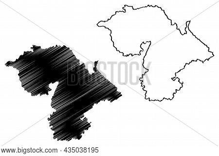 Jammu District (jammu And Kashmir Union Territory, Republic Of India) Map Vector Illustration, Scrib
