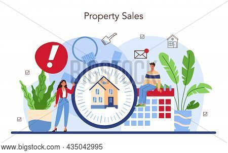 Real Estate Agency Service. Assistance In Property Selling, Buyer