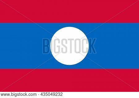 The Democratic Republic Flag Of Laos A Is A Country In Southeast Asia