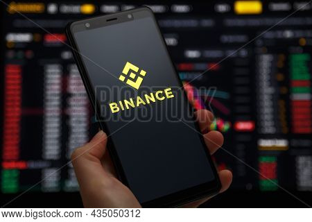 Ukraine, Odessa - June, 1 2021: Binance Mobile App Running At Smartphone Screen With A Trading Page