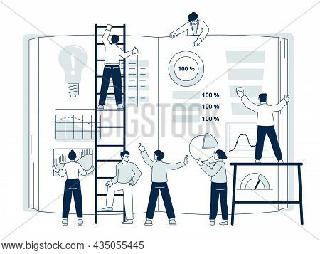 Collaboration Concept. Creative Teamwork, People Collaborate Plan. Dashboard Development Network, In
