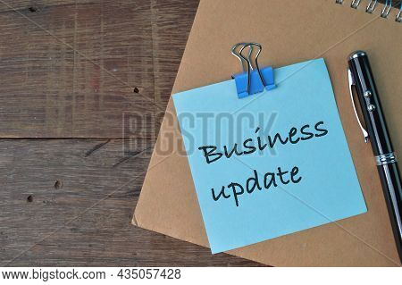 Memo Note Written With Text Business Update