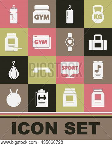 Set Sports Nutrition, Music Player, Bag, Punching, Online Fitness And Training, Fitness Shaker And S