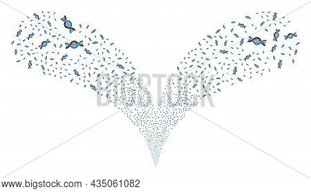Genetic Molecule Double Fireworks Stream. Genetic Molecule Fireworks Double Fountain. Object Fountai