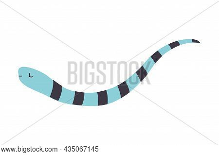Cute Fish With Long Tail As Sea Animal In Bandana Floating Underwater Vector Illustration