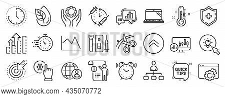 Set Of Science Icons, Such As Blood And Saliva Test, Organic Product, Freezing Click Icons. Time, Sc