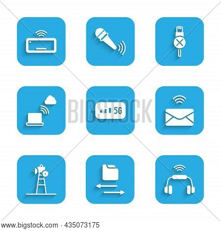 Set 5g Wireless Internet, Transfer Files, Smart Headphones System, Mail And E-mail, Satellite Dish,