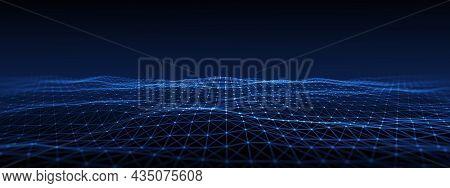 Internet Communication Big data, Technology Background. Network connection concept. 3d rendering