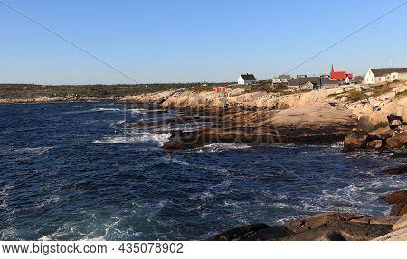 Peggy\'s Cove, Nova Scotia, Canada. Looking North Along The Rocky Coastline Of The Chebucto Peninsul