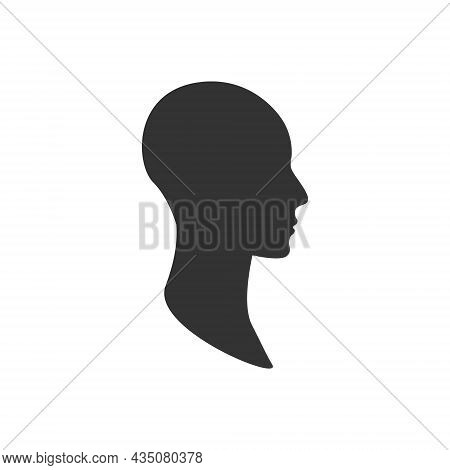 Gender Neutral Profile Avatar. Side View Of An Anonymous Person Face