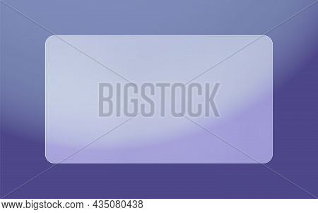 Opaque Frosted Glass Plate. Translucent Plastic Frame