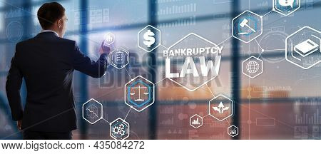 Judicial Decision Lawyer Business Concept. Bankruptcy Law Concept