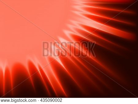 Red Abstract Sunshine - Colored Background Illustration With Sun Rays Or Flames, Vector
