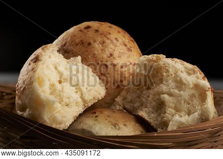 Close Up Bread Flavored With Salami And Cheese