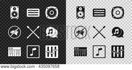 Set Stereo Speaker, Sound Mixer Controller, Music Synthesizer, Note, Tone, Speaker Mute And Drum Sti