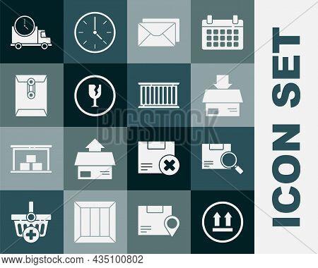 Set This Side Up, Search Package, Carton Cardboard Box, Envelope, Fragile Broken Glass, Logistics De