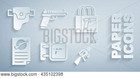 Set Hunting Shop Weapon, Buying Gun Pistol, Firearms License Certificate, M16a1 Rifle, Pistol Or And