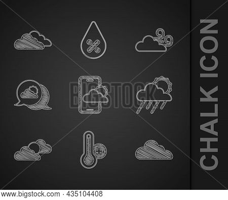 Set Weather Forecast, Meteorology Thermometer, Cloud, With Rain And Sun, Sun Cloud Weather, Location