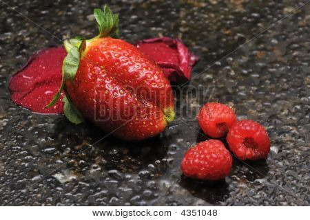 Strawberry And Raspberries
