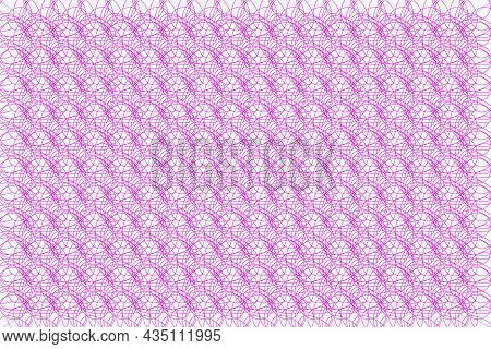 Vector Graphic Of Tangled Thread Pattern In Smooth Color. Vector Certificate Texture. Texture For Ce