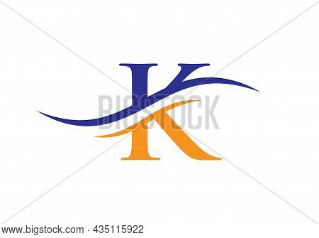 K Logo Design Vector Template. Initial Letter K Logotype For Business And Company Identity