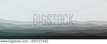Abstract Modern Background Geometric Peaks Waves Harmonious Combined Delicate Colors. Trendy Templat