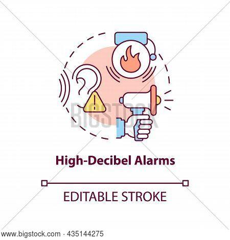 High Decibel Alarms Concept Icon. Loud Siren Alarm Abstract Idea Thin Line Illustration. House Secur