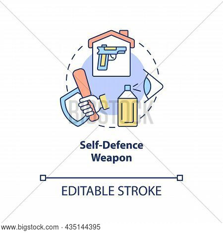 Self Defence Weapon Concept Icon. Personal Protection Abstract Idea Thin Line Illustration. Pepper S
