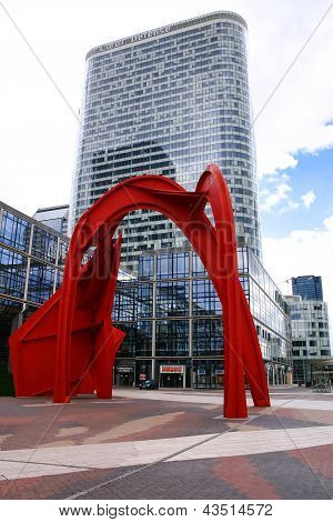 Paris - May 8: Red Arch In Business District Of Defense To The West Of Paris On May 8, 2009, France.