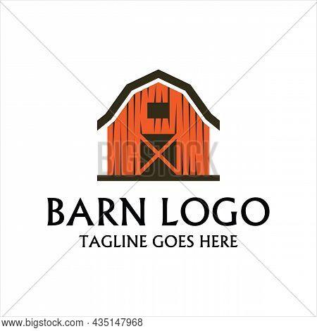 Barn Logo Concept Template Vector. Farmhouse, Warehouse Logo Vector Illustration Design