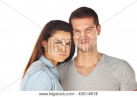 Closeup Of Angry Young Couple
