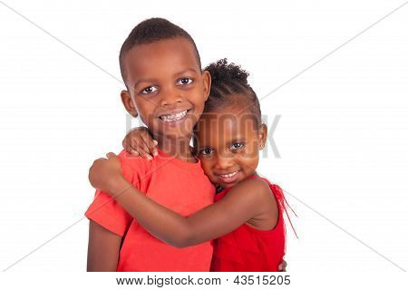 African American Brother And Sister Together