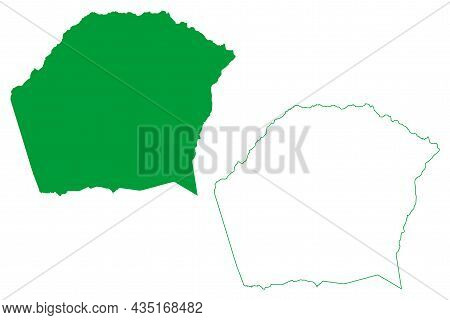 Agua Fria Municipality (bahia State, Municipalities Of Brazil, Federative Republic Of Brazil) Map Ve