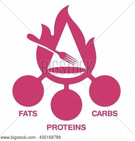 Calculation Of Fats, Proteins And Carbohydrates - Energy Value Of Food Products. Isolated Vector Ele