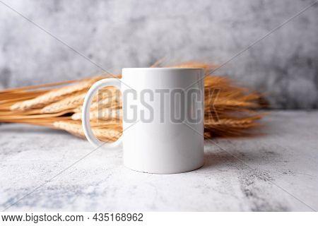 Coffee Mug Mockup, Boho Or Kitchen Themed Mug Mock Up, Neutral Tones. Concept Branding Mock Up For L