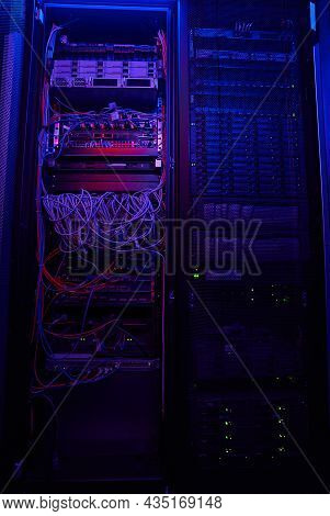 Picture Of Server Rack With Hard Drives From An It Cloud In Server Room