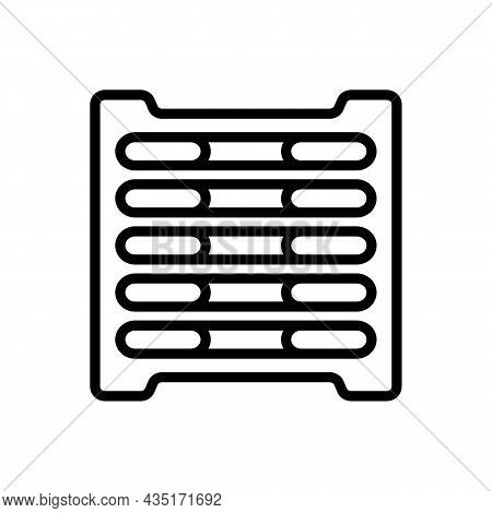 Line Icon Grate In Simple Style. Vector Sign In A Simple Style Isolated On A White Background.