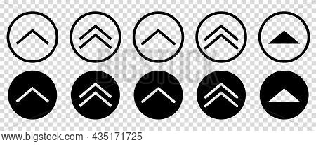 Swipe Up Icons. Line Art Style. Can Use For Web And Mobile App Design. Vector Buttons Isolated On Tr