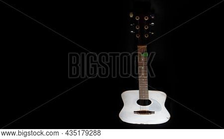 Detail of guitar musical instrument for playing music