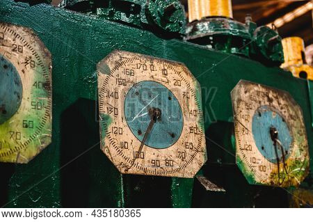 The Dial Of An Old Rolling Mill