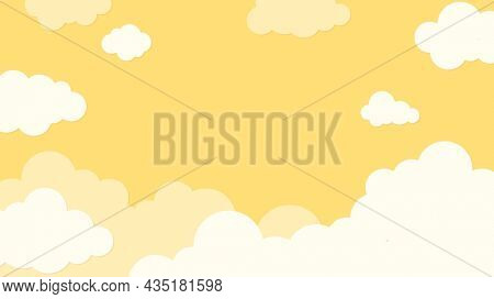 Cloud desktop wallpaper, pastel paper craft HD background