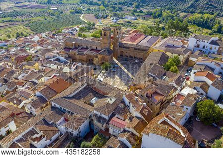 Renaissancesquare In Alcaraz Called Plaza Mayor With The Tardon And The Trinidad Towers. Albacete Sp