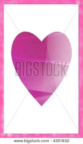 Shaded Pink Valentine Heart