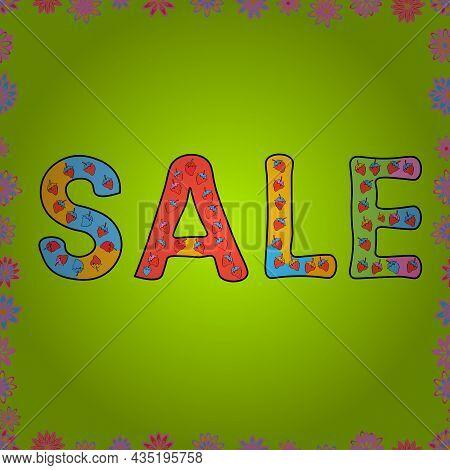 Sale Discount Background For The Online Store, Shop, Promotion, Poster, Promotional Leaflet, Banner.