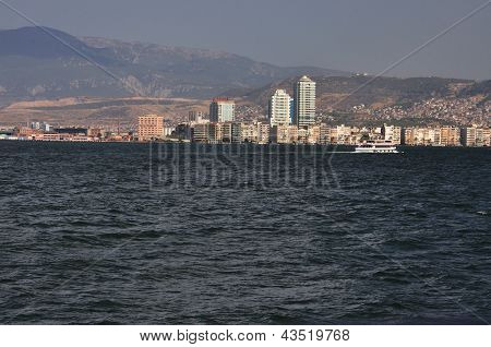General View On Izmir From Sea, Turkey