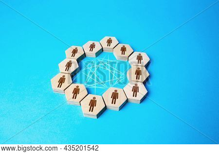 Communication Of People In Negotiations. Teamwork. Business Meeting. Mutual Relations. Cooperation I