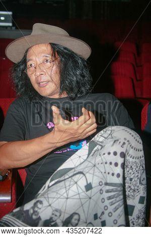 Jakarta, Indonesia - June 29, 2011: Sujiwo Tejo, Or His Full Name Agus Hadi Sudjiwo, Is An Indonesia