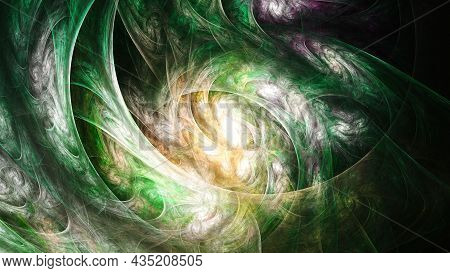 3d Abstract Fractal Background. Design Element For Flyer, Brochure, Web, Advertisements, And Other G