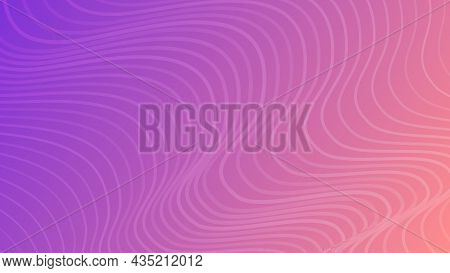 Modern Colorful Gradient Background With Wave Lines. Violet Geometric Abstract Presentation Backdrop